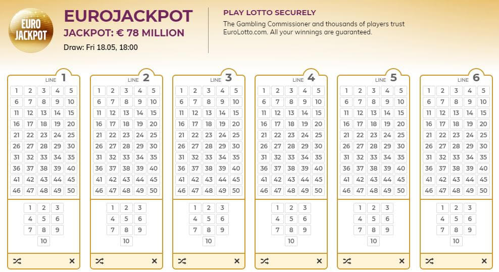 EuroJackpot Lotto tickets