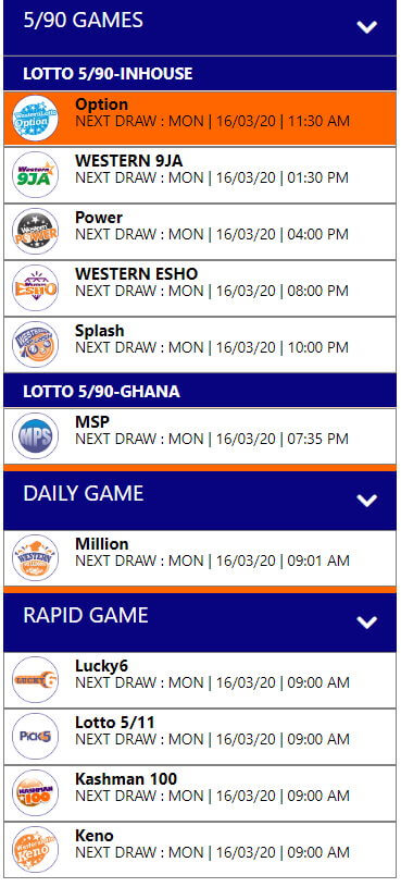 Western Lotto Games